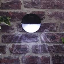 bright garden solar wall light 11cm