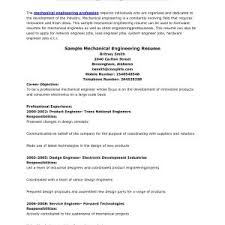 Sample Resume For Registered Mechanical Engineer Valid Mechanical ...