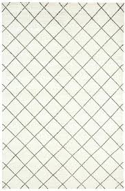 black and white geometric rug ivory diamond pattern wool rug order black and white geometric rug australia