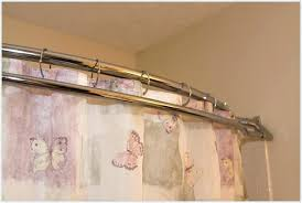 zenith double straight shower rod chrome finish dual shower curtain rods finding bowed shower curtain rod