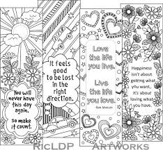Bookmark Designs To Print Printable Colouring Bookmarks With Quotes Coloring Bookmark