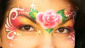 10 lovely face paint ideas for girls easy rose princess mask f09f8cb9 one stroke rose face