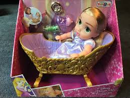 royal princess rapunzel baby doll cradle set toys r us exclusive from toys r