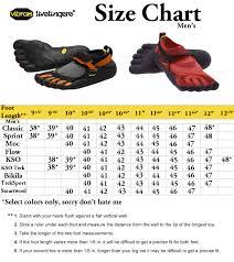 vibram size chart yuu3jbee online vibram five fingers size chart