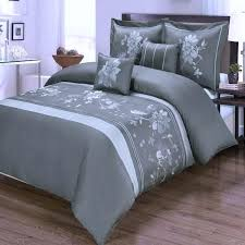 modern dusty grey fl duvet cover set and white cotton gray luxury hugo boss bedding