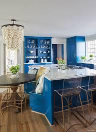 surface one blue kitchen white quartz countertops 2