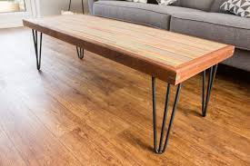 finally old skateboards turned into a colorful coffee table