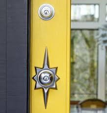 Titan Narrow Mid-Century Knob Exterior Door Hardware Tubelatch Set ...