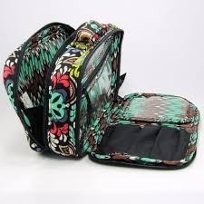 blush brush makeup case sierra pattern travel cosmetic bag prev