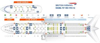747 400 Seating Chart United Airlines British Airways Fleet Boeing 747 400 Details And Pictures