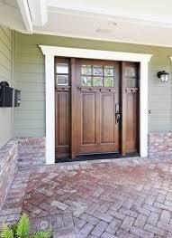 residential front doors craftsman. Beautiful Front Door And Sidelights. Brick. Houzz.com Residential Doors Craftsman