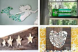 coastal wall art decor 1 beach crafts themed room decorating ideas