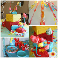 Dr Seuss Party Decorations Dr Seuss Themed First Birthday O Craft Thyme