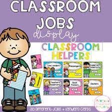 Helpers Chart Classroom Jobs Helpers Chart