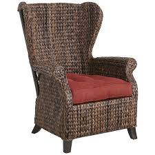 Wingback Chair Graciosa Mocha Brown Wicker Wing Chair Pier 1 Imports