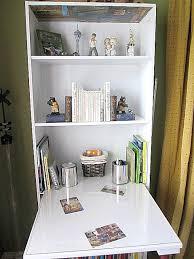 repurpose bookshelf into desk