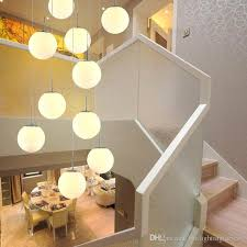 stairs pendant lights modern simple living room restaurant art glass chandelier creative personality villa duplex staircase pendant lamps oil rubbed bronze
