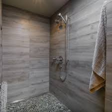 modern tile floor. Inspiration For A Mid-sized Modern Master Gray Tile And Porcelain  Pebble Floor