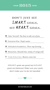 four reasons why s m a r t goals aren t so smart anymore life so for my goals i started using the acronym of h e a r t goals to help me identify and set goals that wouldn t be arbitrary would recognized every area