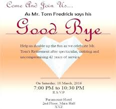 Free Online Retirement Party Invitations Customize 4 Farewell Party