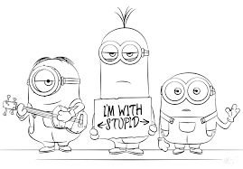 Elegant Minions Coloring Pages Pdf Or Minions Coloring Sheet Easy