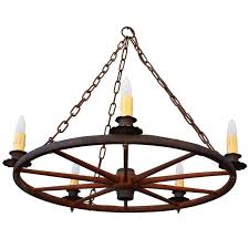 classic vintage wagon wheel chandelier for