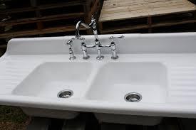 farmhouse a front sinks amazing big contemporarry rectangular double bowl round corner white porcelain