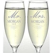 engraved wedding glasses. set of 2 personalized wedding champagne flutes- mr and mrs design - engraved flutes for glasses i