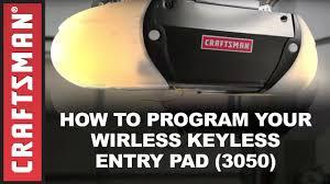 how to program a craftsman garage door opener keypad