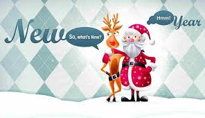 funny new year greeting animated santa