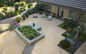 modern concrete patio. Modern Concrete Patio Stained And Scored Ideas With Aggregate Steps Diy