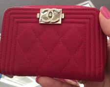 chanel zip coin purse. 100% auth \u0026 new chanel boy fuchsia zip wallet coin purse w/ receipt!