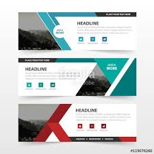 website advertisement template green triangle abstract corporate business banner template