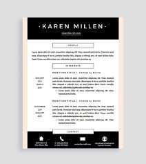 Creative Resume Template And Cover Letter For Word And Pages