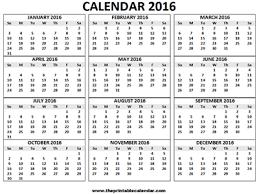 12 Months Calendar Printable Year Calendar