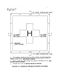 Hospital Heliport Design Figure 11 2 Hospital Helipad Lighting Pattern