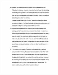 phil  essay on plato matrix descartes   essay on plato  image of page