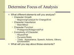 writing a literary analysis essay  4 determine focus of analysis