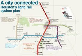 Houston Proposed Light Rail Map Houstons Light Rail Map Houston Lights Metro Map Light Rail