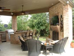 Outdoor Kitchen Fireplace Outdoor Kitchen And Fireplace Design