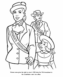 Small Picture USA Printables Womens Suffrage coloring sheet American History