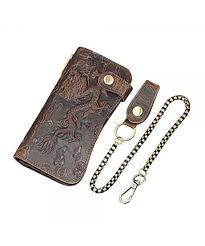 genuine leather wallet holder pocket