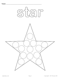 Dot Marker Coloring Pages Printable Dot Coloring Pages To Free 1