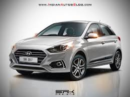 2018 hyundai hatchback. plain hatchback 2018 hyundai i20 facelift rendered in silver colour and hyundai hatchback