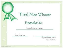 Raffle Prize Winner Certificate Template