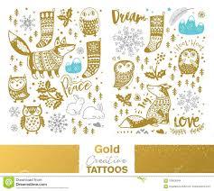 металлические временные татуировки золото серебр и голубой милой