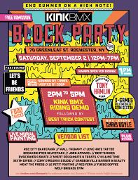 Block Party Flyer Kink Bmx Summer Block Party Flyer