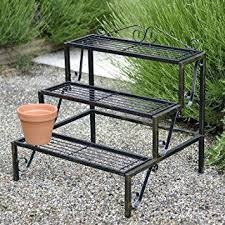 3 tier plant stand outdoor innovation ideas outdoor plant shelves amazing decoration terrace metal 3 tier