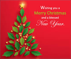 Wishing You A Merry Christmas Christmas And New Year Card