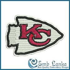 The team was founded in 1960 as the dallas texans by businessman lamar hunt and was a charter member of the american football league (afl). Kansas City Chiefs Logo Embroidery Design Emblanka